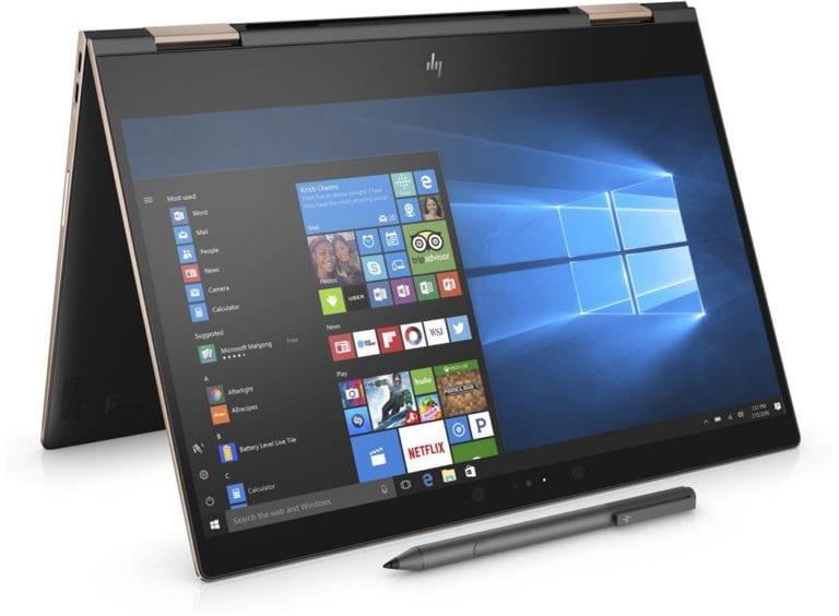 New HP Spectre x360 15 Tablet View