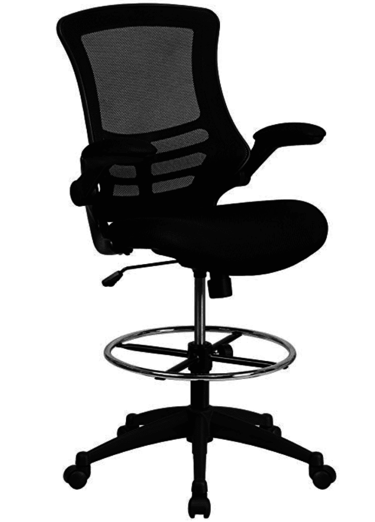 Flash Furniture Mid-Back Black Mesh Chair