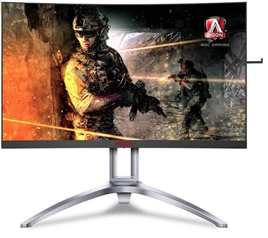 AOC Agon AG273QCX Review - Front View of the monitor