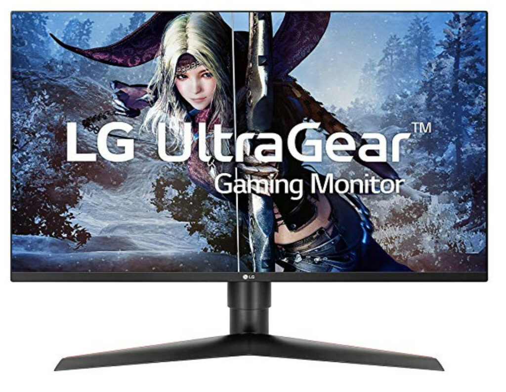 LG 27GL83A-B 27 Review Front View of the Monitor